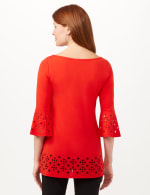 Boat Neck Bell Sleeve Knit Tunic - 2