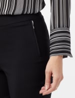 Pull-On faux Zipper Pocket Pants - Black - Detail