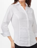 Ultimate Fit Button Front Shirt - White - Detail