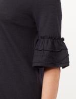Ruffle Sleeve V-Neck Texture Knit Top - 3