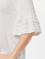 Ruffle Sleeve V-Neck Texture Knit Top - Sugar Swizzle - Detail