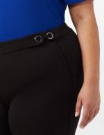 Pull-On Grommet Trim Crop Pants- Plus - Black - Detail