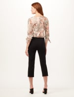 Pull-On Lace Trim Crop Pants - 2