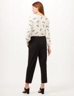 Elastic Drawstring Pull-On Pants - Black - Back