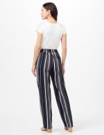 Sailor Stripe Pull-On Pants with Elastic Back - Navy/White - Back
