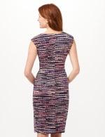 Multi Dot Side Pintuck Dress - Black - Back