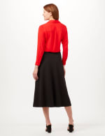 Wide Yoke A-Line Pull-On Skirt - Black - Back