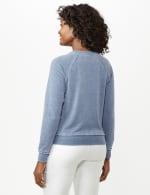 Mineral Wash Raw Edge Sweatshirt - Faded Denim - Back