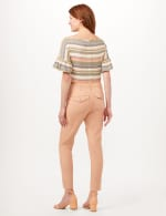 Cargo Pocket Slim Pants - Macaron - Back