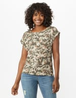 Camouflage Knit Tee - Olive - Front