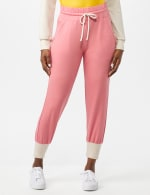 Drawstring Knit Pant with Pockets - Misses - Coral - Front