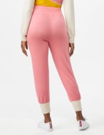 Drawstring Knit Pant with Pockets - Misses - Coral - Back