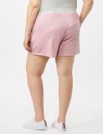 Stripe Drawstring Knit Short - Pink - Back