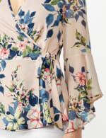 Wrap Knit Top - Black/Pink - Detail