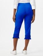 Pull on Crop Pants with Novelty Fringe Hem - Princess Blue - Back