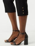 Pull On Crop Pants - Black - Detail