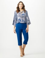Pull On Crop Pants - Marine Blue - Front