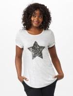 Sequin Star Tee - 1