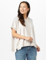Hoodie Sweater Poncho - Pale Platinum - Back