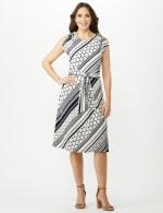 Diagonal Dot and Stripe Dress - 1