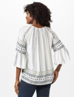 Westport Bell Sleeve Border Tunic - Misses - Ivory - Back