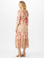 Mixed Ditsy Print Tiered Maxi Peasant Dress - 2