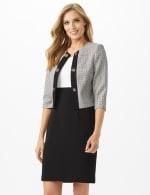 jewel neck jacket dress - 1