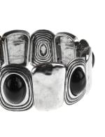 Hammered Clicklet Boho Cab Stretch Bracelet - 3