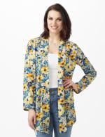 Daisy Print Kimono - Blue - Front