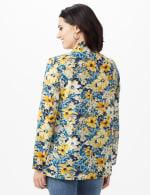 Daisy Print Kimono - Blue - Back