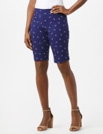 Pull On Shorts with Anchor Pattern - Twilight Blue/White - Front