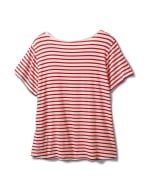 """America The Beautiful"" Stripe Rib Tee - Plus - Red - Back"