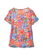 Floral Texture Knit Tee - Multi - Back