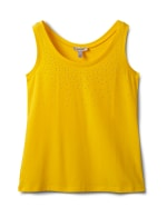 Studded Knit Tank - Gold - Front