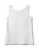 Studded Knit Tank - White - Back