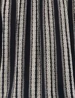 Smocked Geometric Grommet Tie Sleeve Top - 14