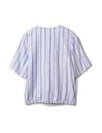 Stripe Wrap Hi-Lo Top - 4