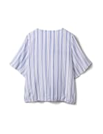 Stripe Wrap Hi-Lo Top - Plus - Blue/White - Back