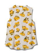 Sleeveless Lemon Tie Front Top - 2