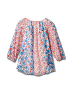 Westport Small Floral Twin Print Blouse - Red/Blue - Back