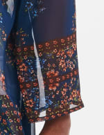 Dressbarn Floral  Border Kimono - Multi - Detail
