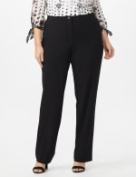 Plus Roz & Ali Secret Agent Trouser with Cateye Pockets & Zipper- Short Length - Black - Front
