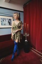 Sofia Dress - Olive - Detail