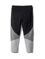 Color Block Knit Capri - Grey/Black - Back