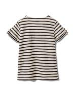 Lace Up Stripe Knit Top - 8
