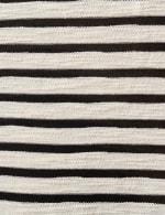 Lace Up Stripe Knit Top - 3