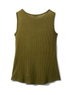 Mixed Camo Knot Front Knit Top - Misses - Olive - Back