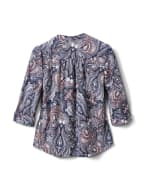 Paisley Pintuck Popover - Navy/Orange - Back