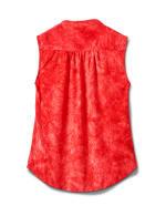 Studded Jaquard Pintuck Popover - Jalapeno/Red - Back