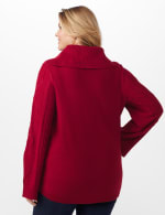 Westport Novelty Sleeve Curved Hem Sweater - Plus - Delicious Apple - Back